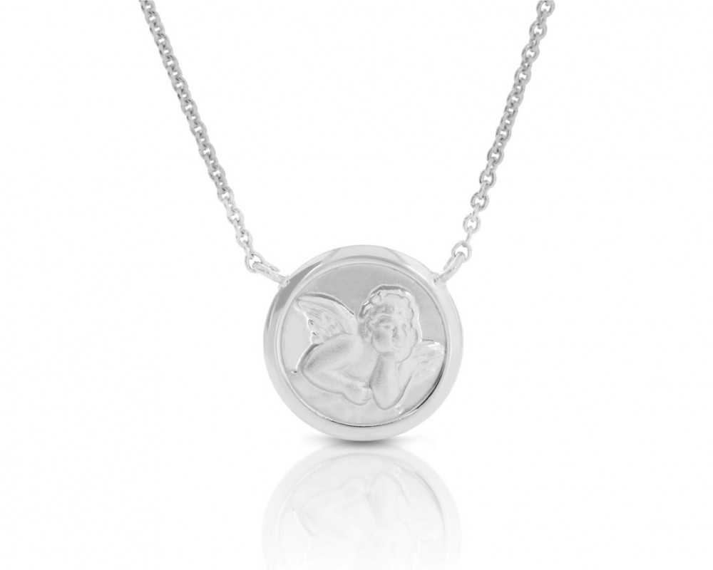 filigrane Schutzengel Kette mit Engel Motiv 925 Sterling Silber