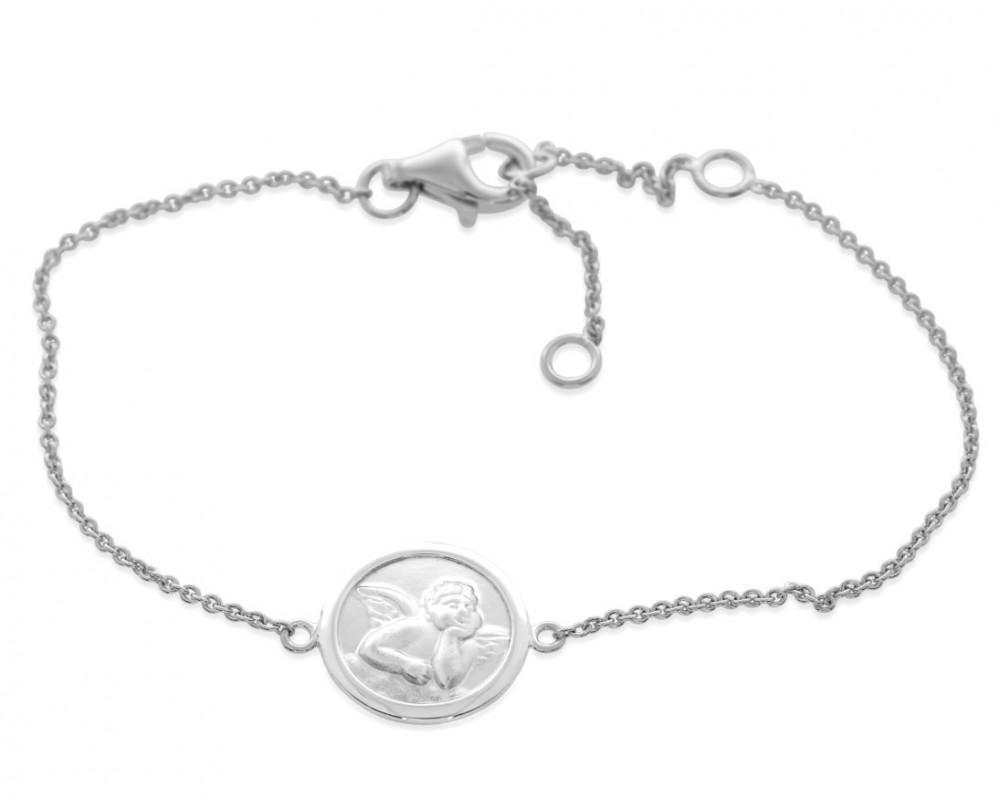 zartes Armband mit Engel Motiv Anhänger aus 925 Sterling Silber