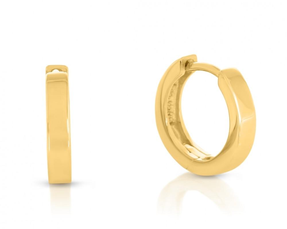 Ohrringe vergoldet Ø 13mm Creolen schlicht