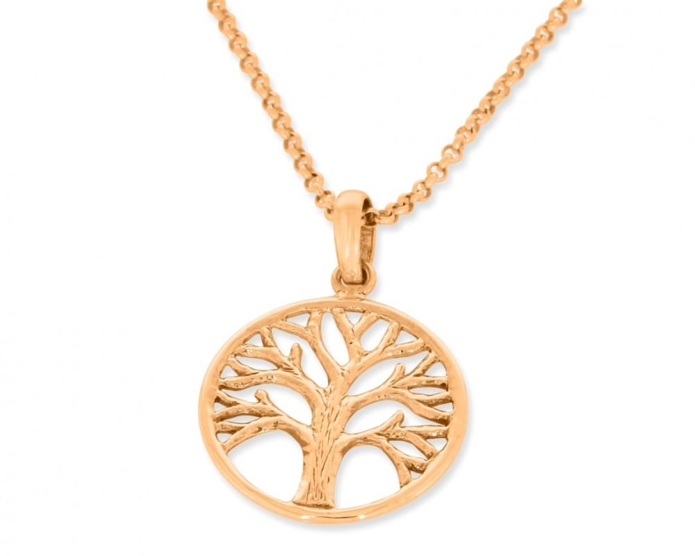 Damen Halskette Lebensbaum Kette roségold Baum des Lebens Schmuck Collier