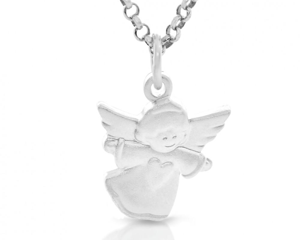 Engel fliegend Gravur 925 Sterling Silber Taufschmuck