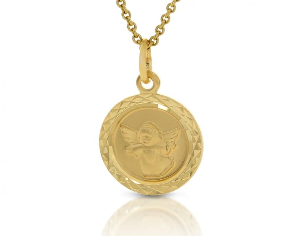 Schutzengel Anhänger Taufgeschenk 333er Gold