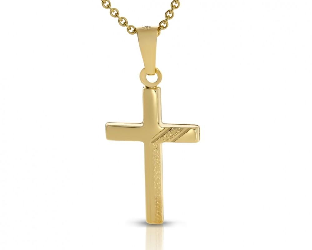Gold Kreuz Kette 333er Goldschmuck