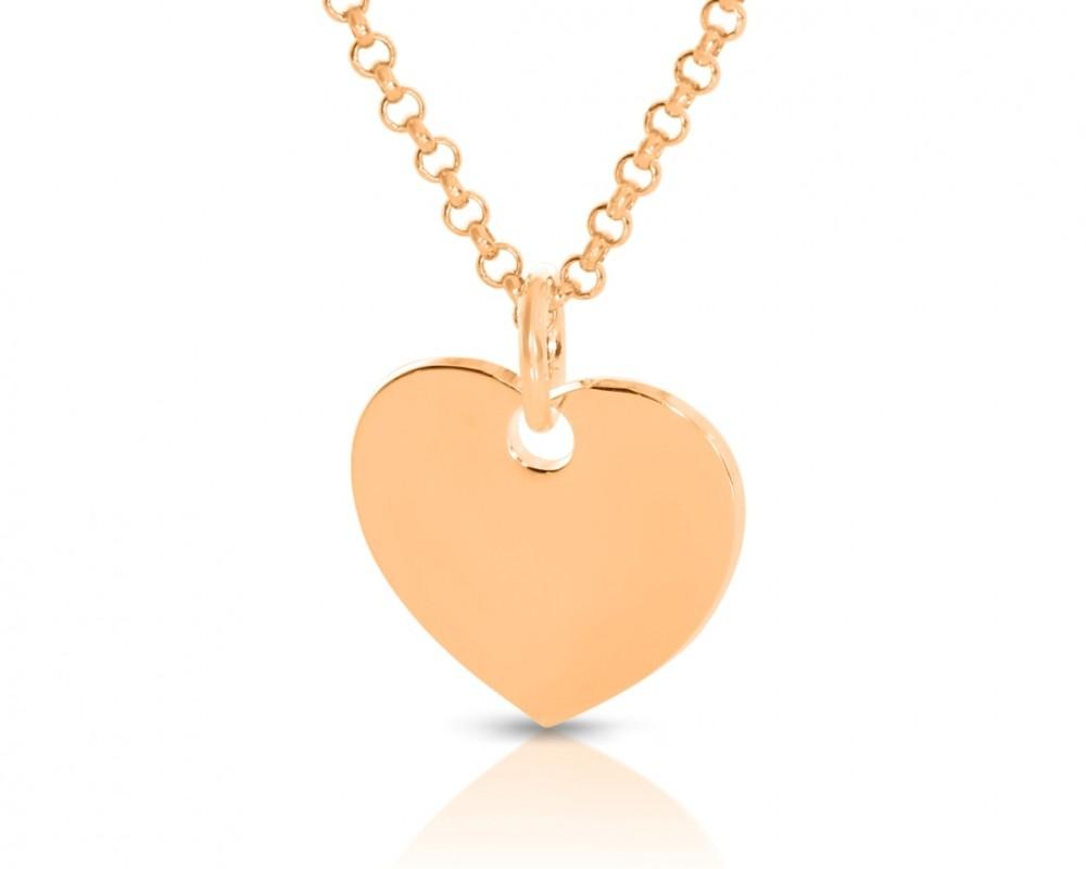 rosévergoldete Herzkette Anhänger Herz Gravur Damenschmuck Geschenk