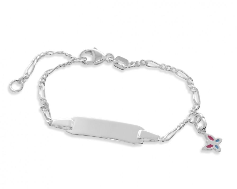 Kinderarmband Schmetterling Anhänger Gravur Mädchen 925 Silber