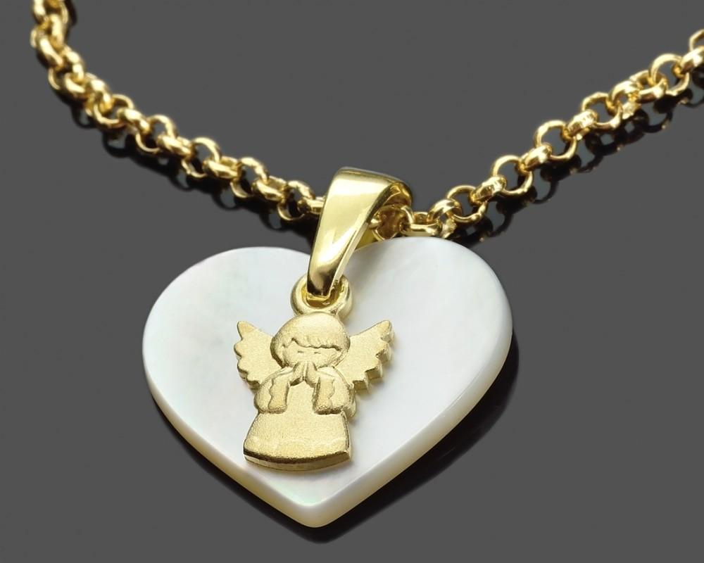 Taufe goldkette mit schutzengel