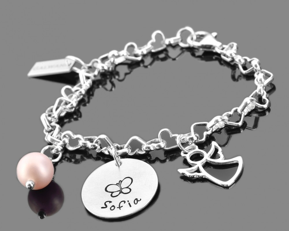 silberarmband mit namen engel schmuck schutzengel armband galwani. Black Bedroom Furniture Sets. Home Design Ideas