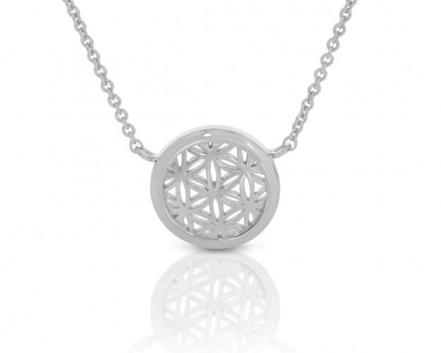 Lebensblume Anhänger Silberkette Blume des Lebens 1,2 cm