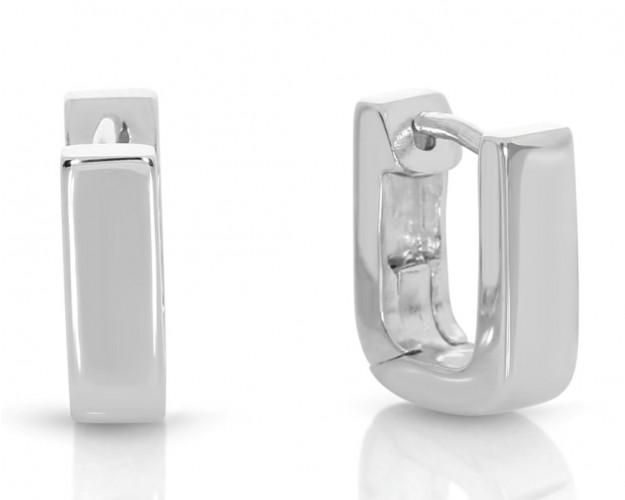 eckige Creolen Paar ca. 12mm 925 Sterling Silber
