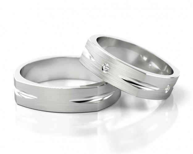 Ausgefallene Trauringe Weissgold Ringe Zur Hochzeit Galwani