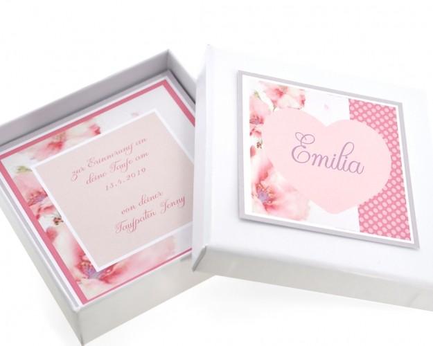 Schmuck Schachtel mit Wunschtext Geschenk Schachtel mit eigenen Text