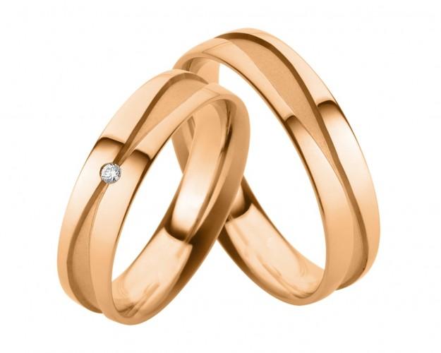 Trauringe Modern Hochzeitsringe Rotgold Ausgefallene Eheringe