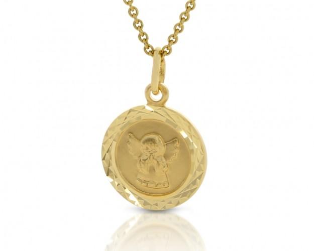 Engel Anhänger Goldkette  333er Taufschmuck Schutzengel