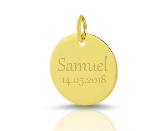 GOLD ANHÄNGER MIT GRAVUR 333/- GOLDSCHMUCK MIT NAMEN NAMENSANHÄNGER NAME