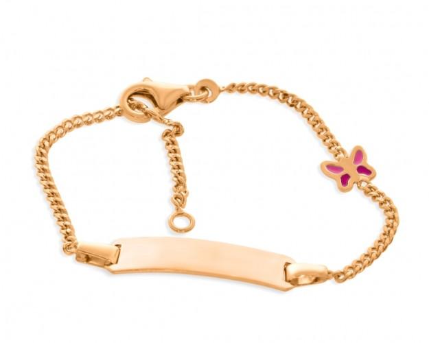 ID Armband Kinder Baby Gravur rosé vergoldet Geschenk Geburtstag Taufe
