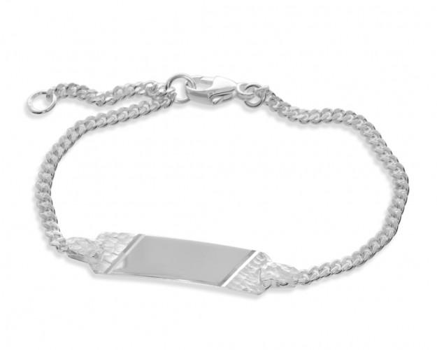 Taufarmband silber ID Armband Kinder Baby Gravur 925 Silber