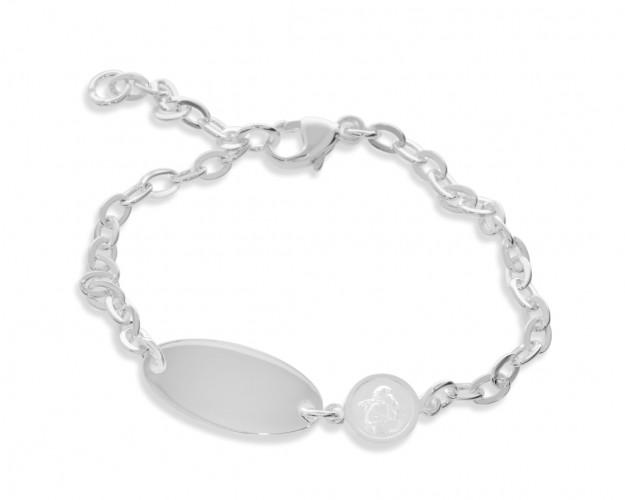 Armband Gravur Engel Anhänger Taufarmkettchen 925 Sterling Silber