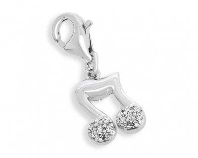 CHARM ANHÄNGER NOTE ANHÄNGER CHARM 925 SILBER MUSIK NOTE ARMBAND