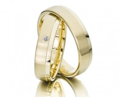 Eheringe gold matt schmal  Trauringe - Hochzeitsschmuck | GALWANI