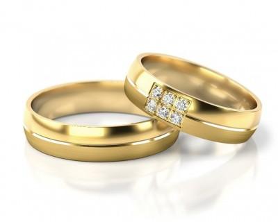 EHERINGE GOLD, TRAURINGE MIT KOSTENLOSER GRAVUR, ZIRKONIA RING