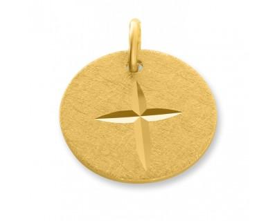 KETTENANHÄNGER VERGOLDET, KREUZ ANHÄNGER GOLD