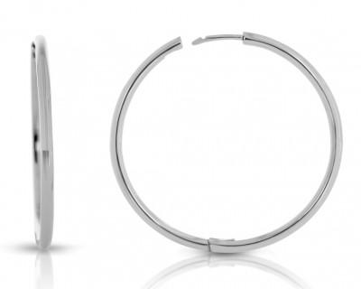 Damen Creolen Ø 35mm Ohrringe 925 Silber