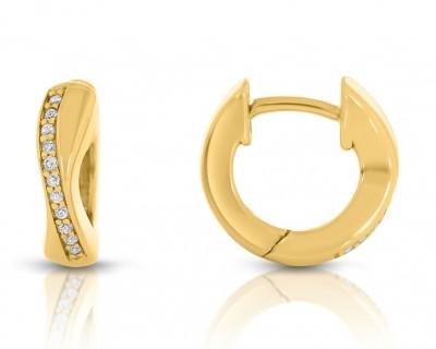 Damen-Ohrringe vergoldet Creolen 925 Sterling Silber