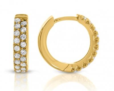 Creolen Ohrringe vergoldet Damenschmuck hochwertig