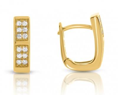 Creolen vergoldet Ohrringe mit Zirkonia Damen Ohrstecker gold