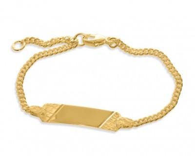 Armband Hammerschlag vergoldet Taufarmband Gravur Kinderschmuck