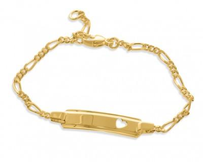 Armband vergoldet Kinderarmband Herz Gravur
