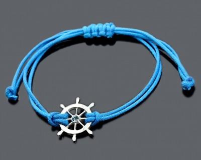 Armband in blau für Jungs, Steuerrad