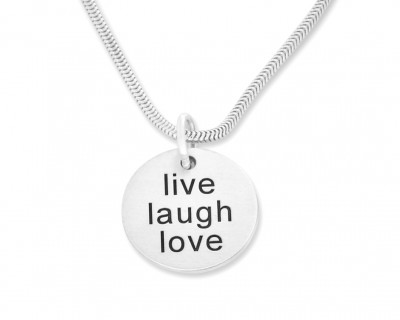 LIVE LOVE LAUGH, KETTE MIT GRAVUR