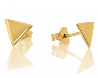 Ohrstecker Dreieck vergoldete moderne Ohrstecker