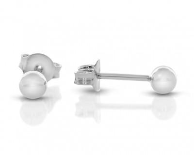 Ohrstecker 925 Silber rund Kugel schlicht 3mm