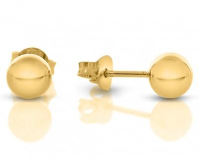 Damen-Ohrstecker 7mm vergoldet schlichte Ohrringe gold