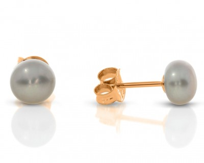 Ohrringe Perlen rosé vergoldet Süßwasserperlen Ohrstecker
