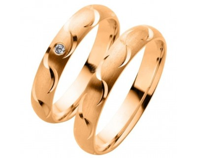 EXKLUSIVE ROTGOLD RINGE, TRAURINGE 333/- ROTGOLD